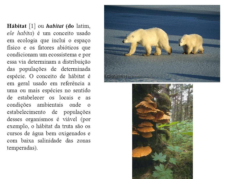 Hábitat [1] ou habitat (do latim, ele habita) é um conceito usado em ecologia que inclui o espaço físico e os fatores abióticos que condicionam um ecossistema e por essa via determinam a distribuição das populações de determinada espécie.